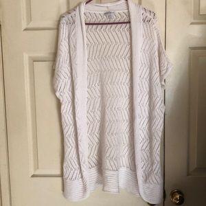 🎃BOGO 50% Fashion Bug White Cardigan Size 3X